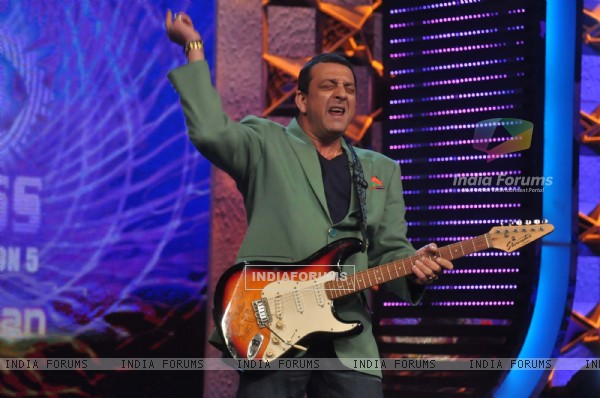 Sanjay Dutt on the sets of Bigg Boss Season 5 at Karjat