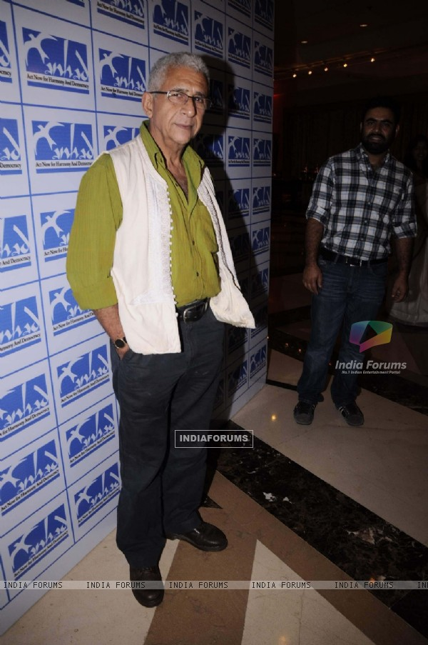 Naseeruddin Shah at Firoz Nadiadwala organised event to support Anhad NGO at JW Marriott in Juhu