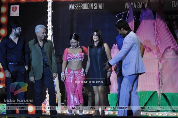 Vidya Balan, Tusshar, Emraan and Naseeruddin Shah at Audio Release Of 'The Dirty Picture'