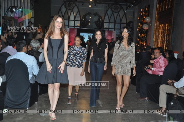 Models walk the ramp for Gauri and Nainika Fashion Show hosted by Sussanne K Roshan