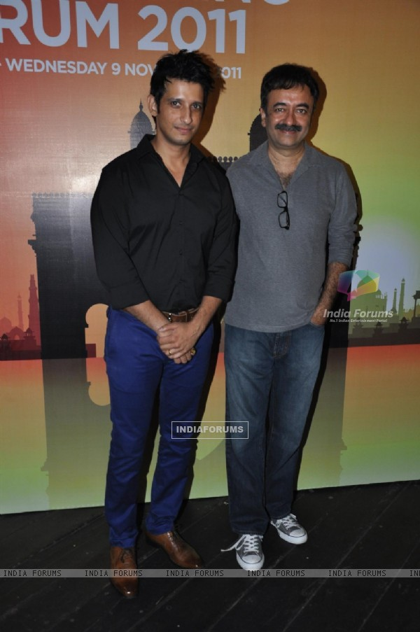 Sharman Joshi and Rajkumar Hirani grace the Mumbai London Advertising Forum 2011 at Vie Lounge