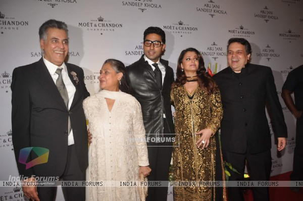 Jaya, Abhishek and Aishwarya Rai Bachchan at Abu Jani celebrates 25 years with Moet Chandon at China