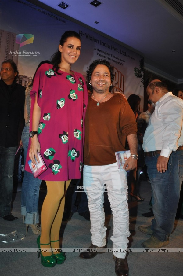 Kailash Kher and Neha Dhupia at 'Pappu Can't Dance Saala' music launch at Sea Princess