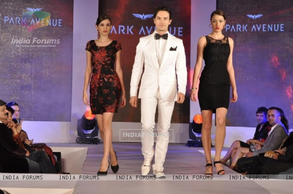 Model walks the ramp for Park Avenue new collection launch