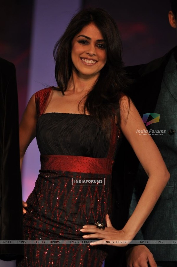 Genelia Dsouza walks the ramp for Park Avenue new collection launch