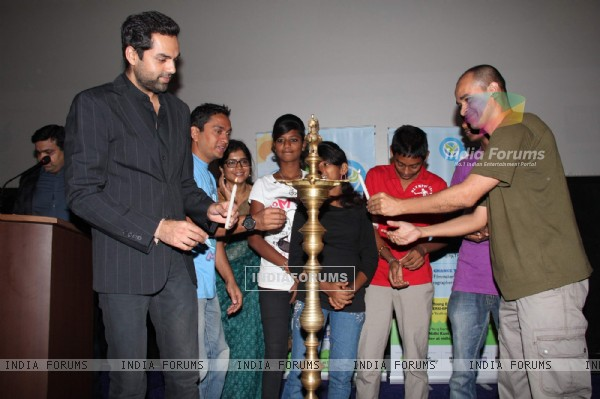 Abhay Deol at PVR Nest event, Lower Parel