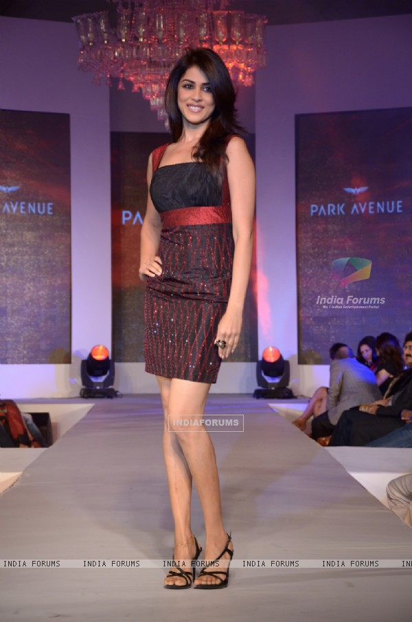Genelia D'souza walking the ramp at Park Avenue fashion show in Mumbai