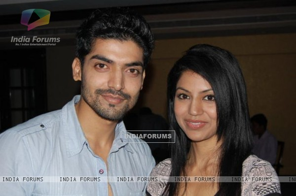 Gurmeet and Debina in 100th episode party