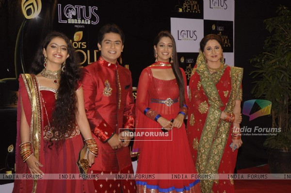 Avika Gor, Dipika Samson, Shoaib Ibrahim and Nishigandha Wad at Golden Petal Awards in Filmcity