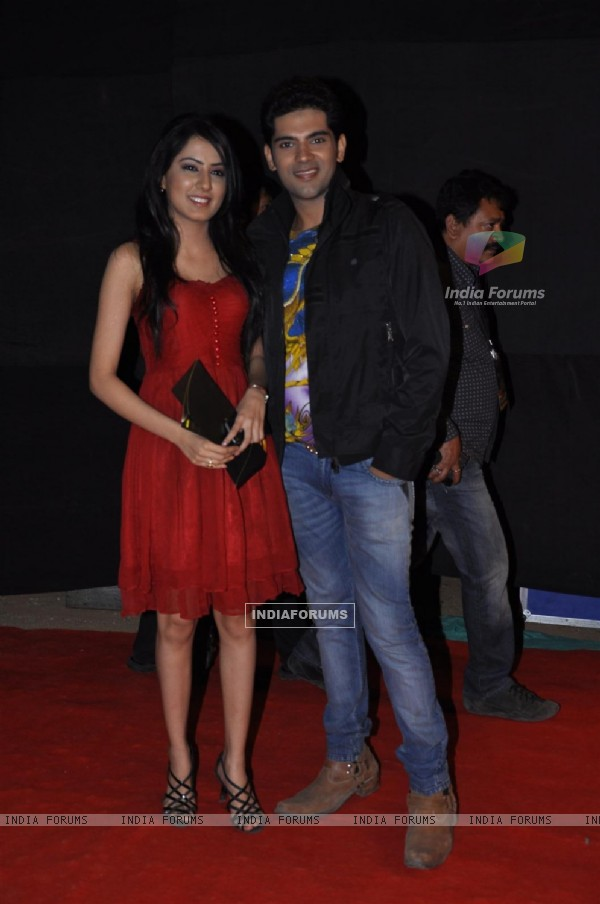 Ankit Bathla and Swati Kapoor at Red Carpet of Golden Petal Awards By Colors in Filmcity, Mumbai