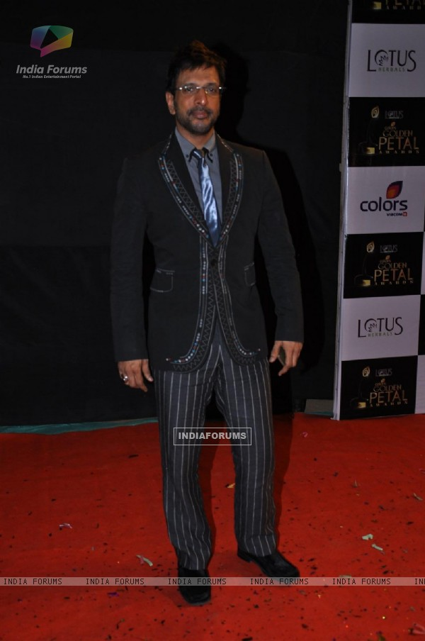 Javed Jaffrey at Red Carpet of Golden Petal Awards By Colors in Filmcity, Mumbai