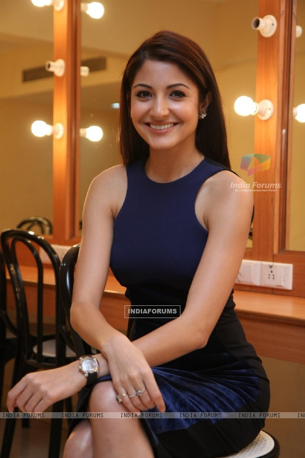 Anushka Sharma at press meet of film 'Ladies vs Ricky Bahl' at Yashraj Studios in Mumbai