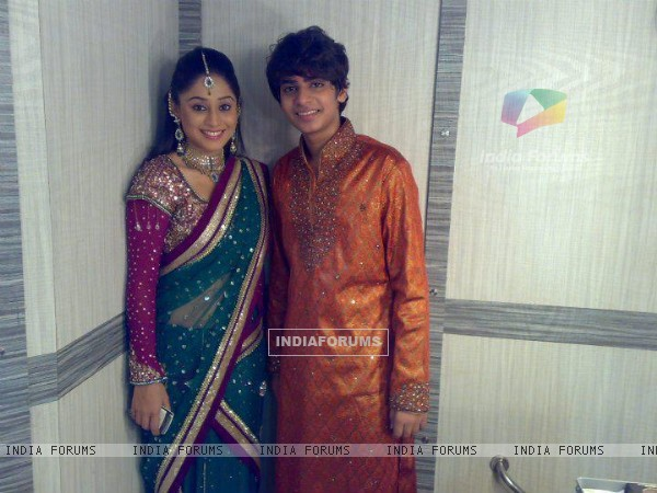 Soumya Seth and Ayush off screen pic