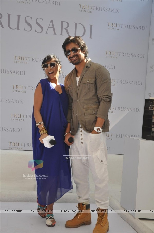 Rannvijay Singh and Shweta Salve at Trussardi watch launch at Olive