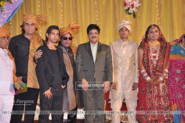 Udit Narayan at Wedding of famous music director Dilip Sen�s daughter Ms Simmin held in Mumbai