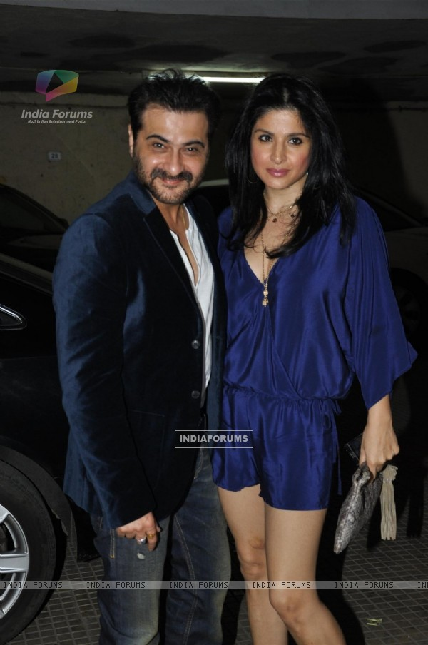 Sanjay Kapoor at Arjun Rampal's birthday bash in Bandra
