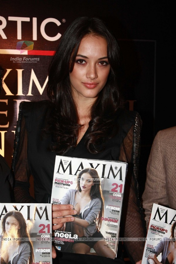 Angela Jonsson graces the 'Maxim' magazine cover launch in Parel