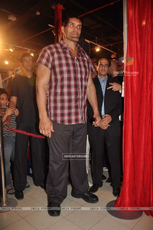 WWE Superstar Khali poses during the launch of game