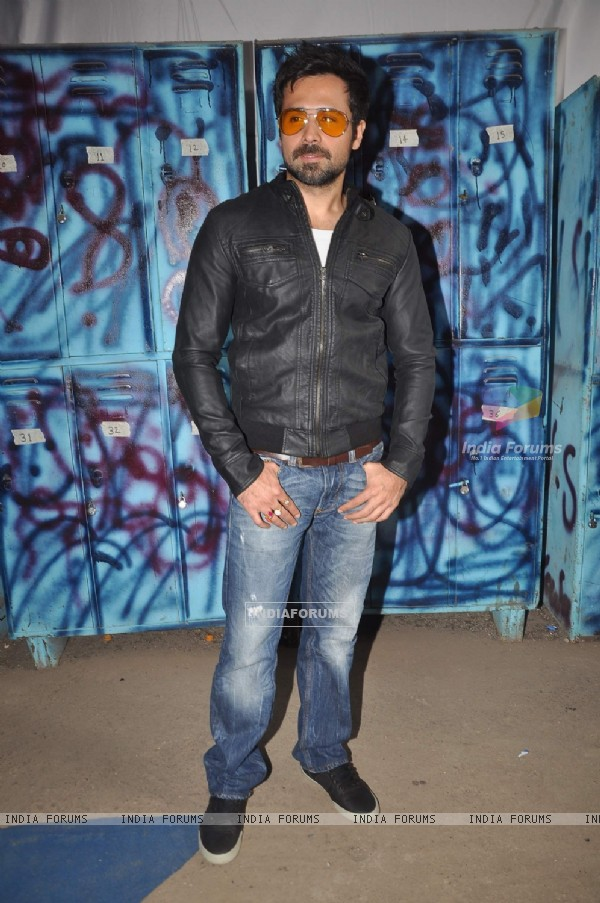 "Emraan Hashmi on the set of ""Bigg Boss Season 5"" to promote his film The Dirty Picture"