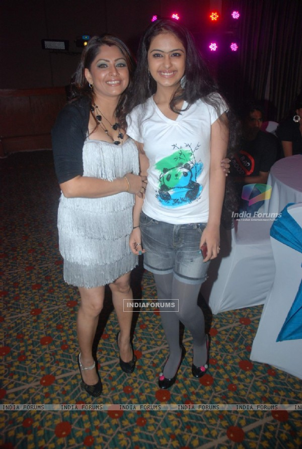 "Avika Gor and Janvi Vora celebrating 150 episodes of the TV show ""Sasural Simar Ka"" at JW Marriott"