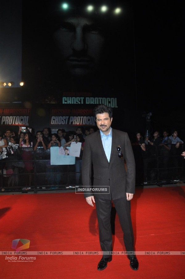 Anil Kapoor grace the special screening of Mission Impossible - Ghost Protocol at Imax
