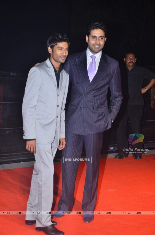 Abhishek Bachchan poses for a photo at Mission Impossible premiere at IMAX Wadala