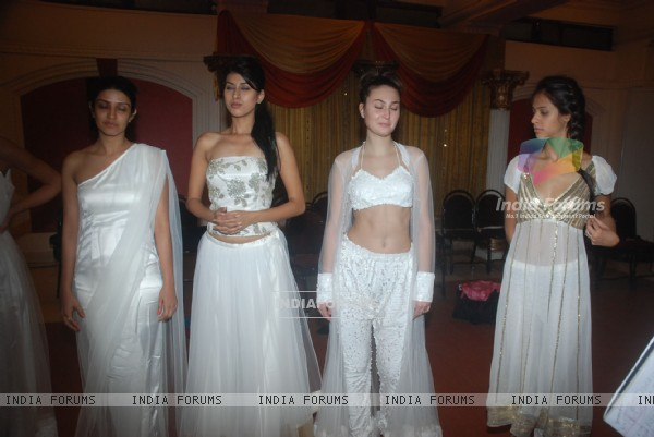Models giving a glimpse of what to expect at the inaugural India Resort Fashion Week which will kick start Dec 7.  .