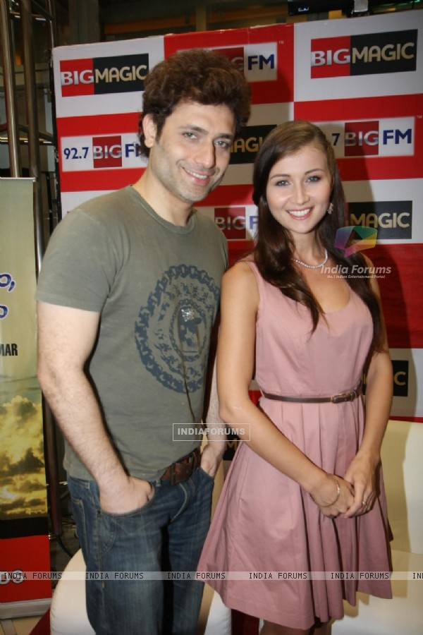 Shiney Ahuja and Julia Bliss at 92.7 BIG FM Studios in Mumbai to promote their film GHOST
