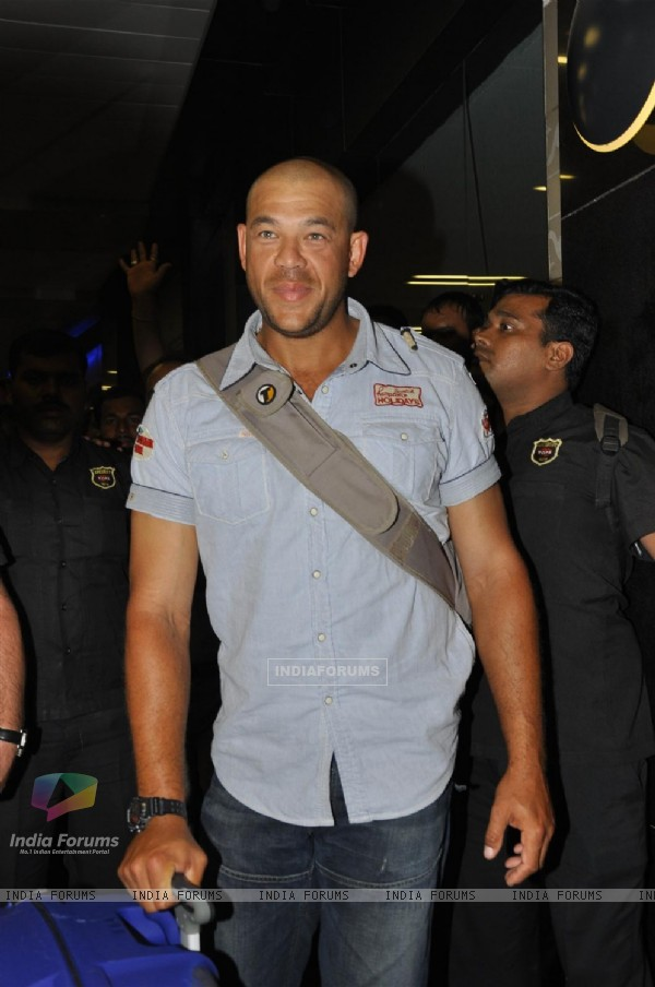 Cricketer Andrew Symonds snapped at the Mumbai Airport to participate in the reality show Bigg Boss
