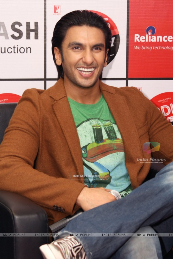 "Ranveer Singh at Reliance Digital to promote his film ""Ladies vs Ricky Bahl"" in New Delhi"
