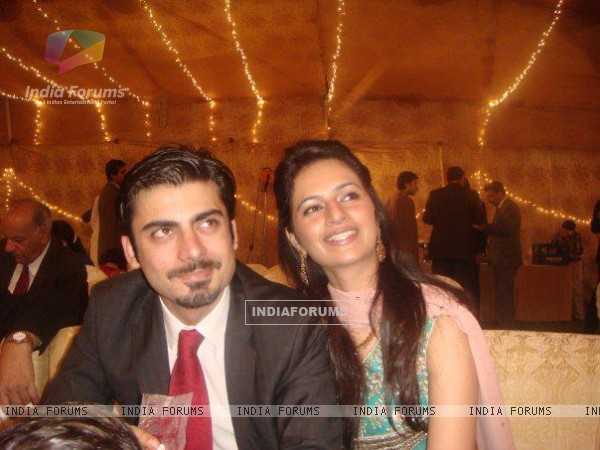 Fawad Afzal Khan with his wife