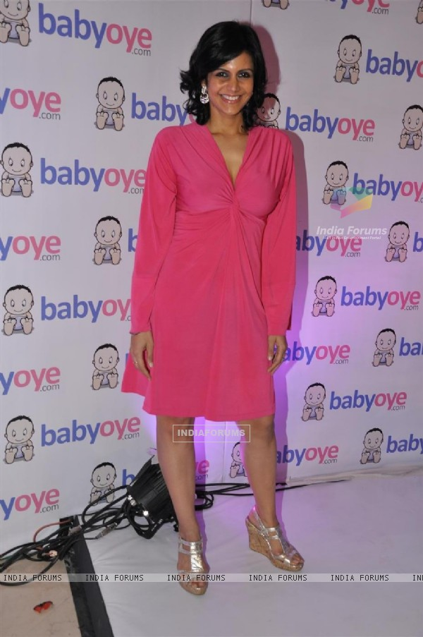 Mandira Bedi at the launch of Babyoye.com website at TajLands End, Mumbai