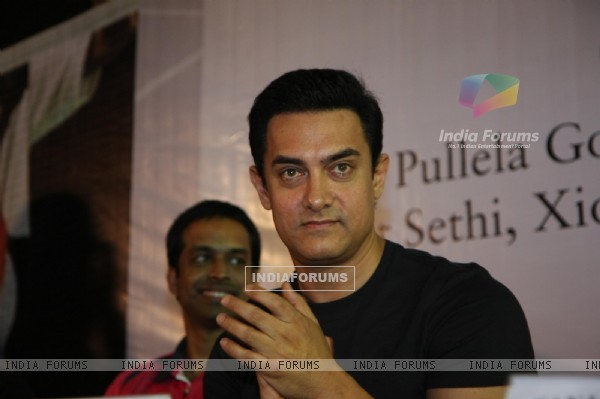 Aamir Khan at launch of 'PULLELA GOPICHAND'Book in Mumbai