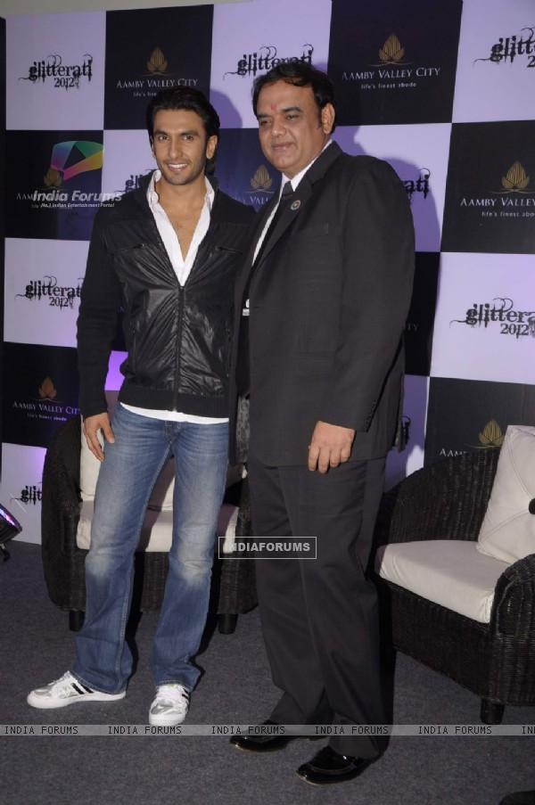Ranveer Singh at Press meet for New Year Celebrations party Glitterati 2012 at Aamby Valley City