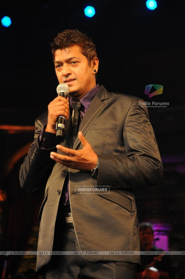 Aadesh Shrivastava at Music Heals Concert held at Andheri Sports Complex in Mumbai