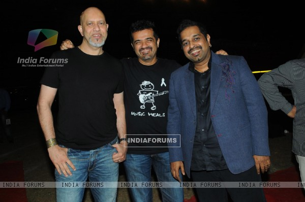 Loy, Ehsaan and Shankar at Music Heals Concert held at Andheri Sports Complex in Mumbai