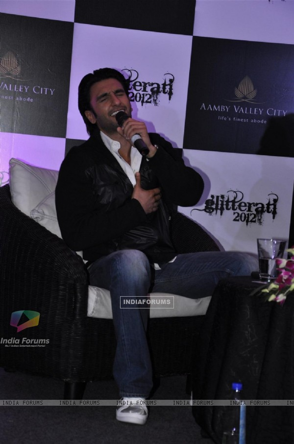 Ranveer Singh at Press meet for New Year Celebrations party Glitterati 2012 at Aamby Valley City, Sa