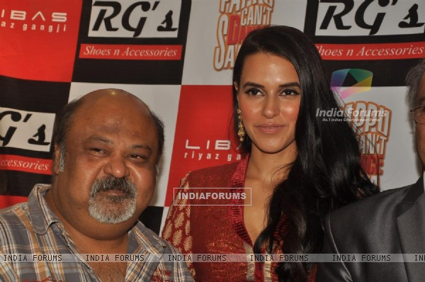 Saurabh Shukla with Neha Dhupia promote their film 'Pappu Can't Dance Saala' at Libas showroom
