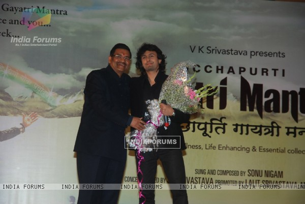 Sonu Niigam's Gayatri mantra album launch at Andheri, Mumbai