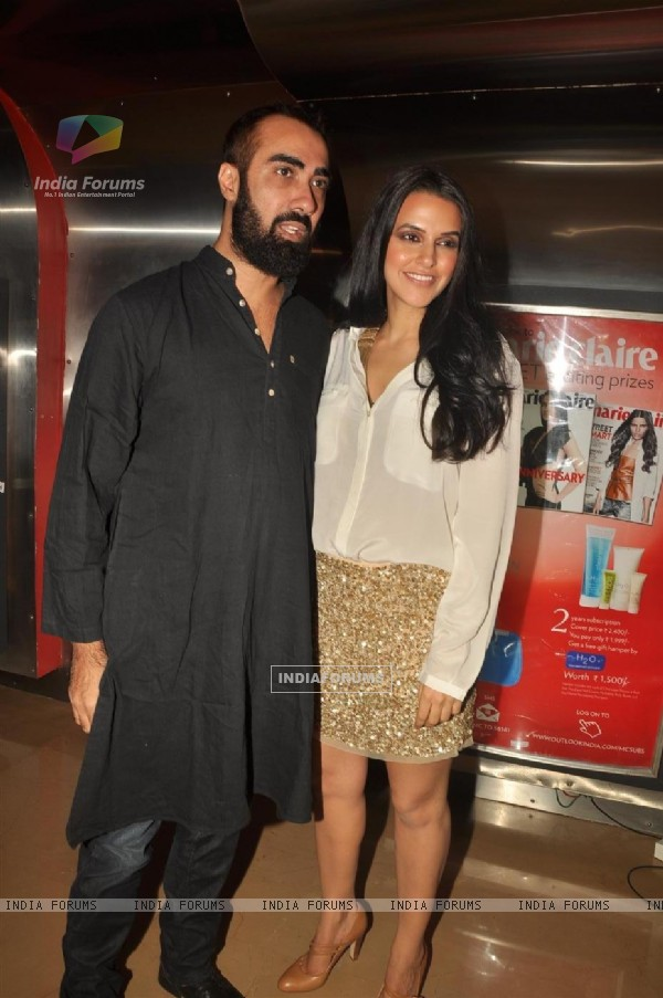 Ranvir Shorey and Neha Dhupia at Premiere of film 'Pappu Can't Dance Saala'