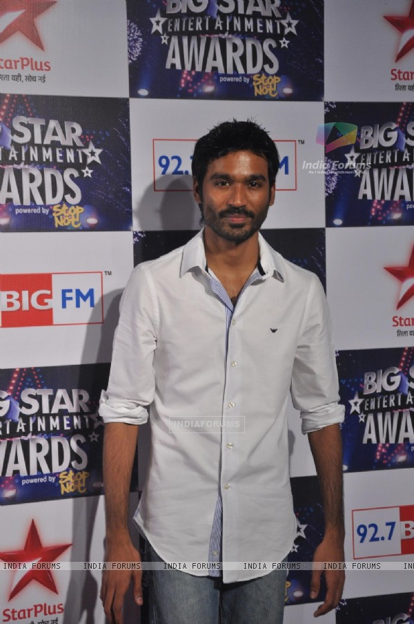 Dhanush at Big Star Entertainment Awards at Bhavans Ground in Andheri, Mumbai