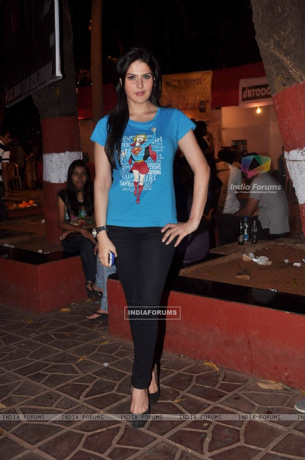 Actress Zarin Khan at MMK College fest in Bandra