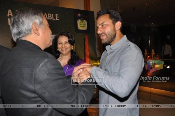 Saif Ali Khan and Sharmila Tagore at the 2nd edition of the RSD World Cricket Summit in Mumbai