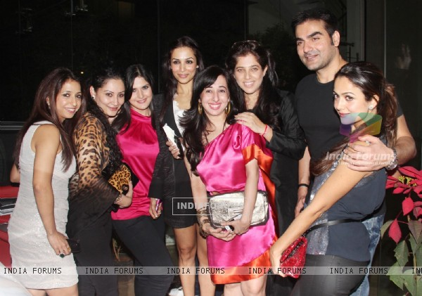 Arbaaz Khan, Malaika Arora Khan, Amrita Arora at Farah Khan's House Warming Party