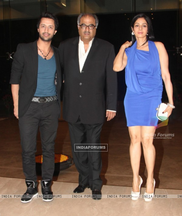 Atif Aslam with Sridevi and Boney Kapoor at Farah Khan's House Warming ...