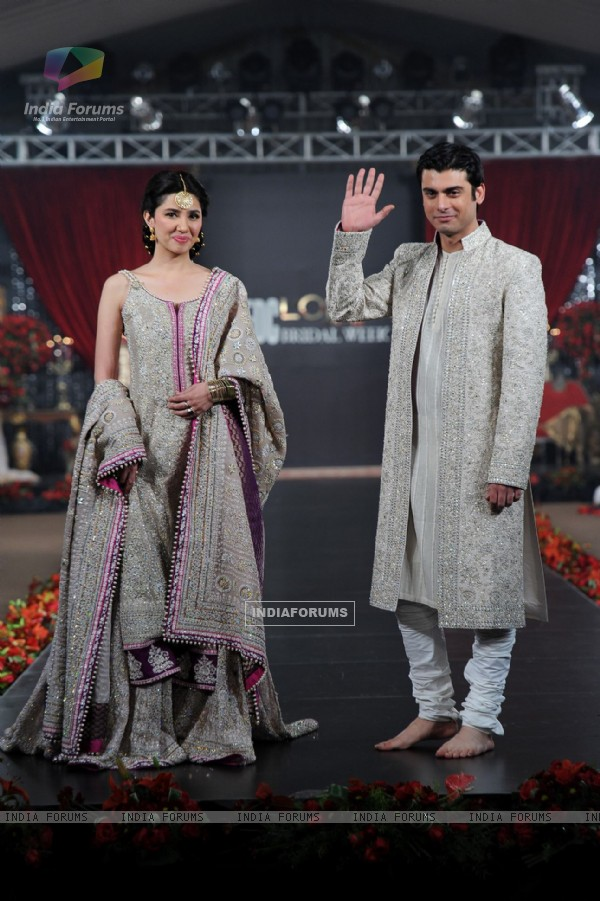Fawad and Mahira in Bridal Coture Week