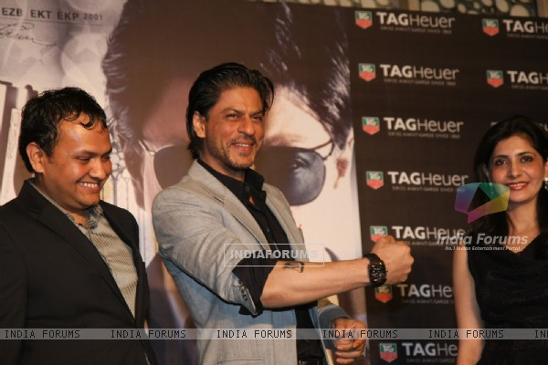 Shah Rukh Khan at the promotional campaign of film Don 2 in association with TAG HEUER watch brand at Cinemax in Mumbai