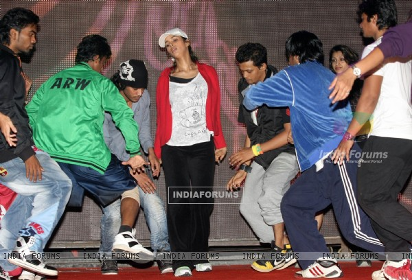 Mallika Sherawat during the rehearsal for New Year Celebration in Mumbai