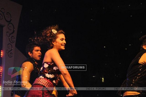 Jacqueline Fernandez performing at Seducion 2012, the New Year's Eve event at Hotel Sahara Star in Santacruz, Mumbai