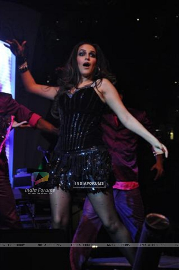 Neha Dhupia performing at Seduction 2012 for New Year Eve at Hotel Sahara Star in Mumbai